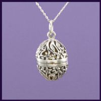 Oval Floral Locket/Angel Caller (1)